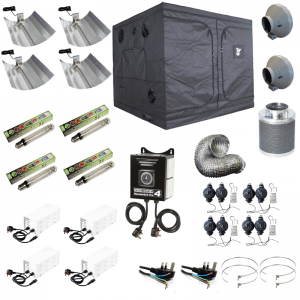 240 x 240 x 200cm Complete 600w HPS Grow Tent Kit